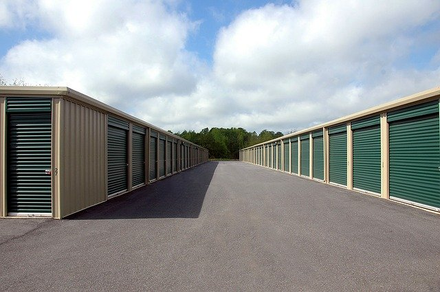 A huge area with storage units