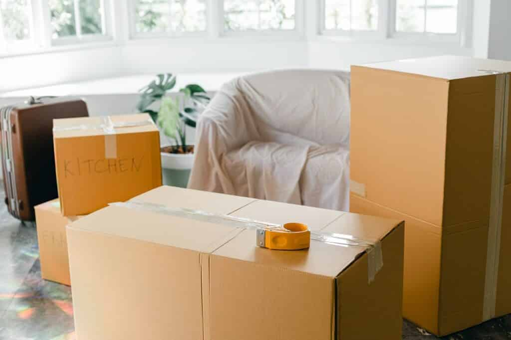 Bulky furniture and boxes - one of the most common unexpected moving expenses.